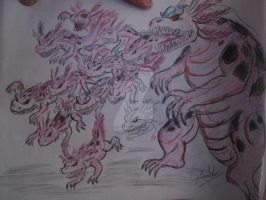 Axoloc and His Army of the Lake by Mexicankaiju