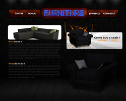 Web design 'Furniture' by TheDrake92