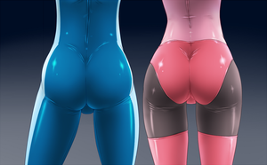 Bodysuit Butts by sinrin8210