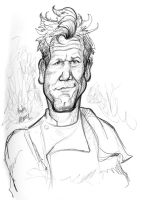 Weekly Sketch: Chef Ramsay by hcnoel