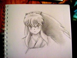 Inuyasha being cute by CecilleHarris