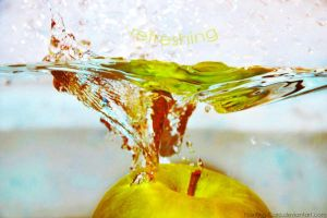 GREEN - APPLE - REFRESHING by Painting-Caro