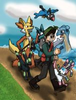 Walkin Along with my Pokemon by AtomicPhoton