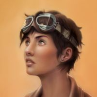 Aviator Woman detail by Almayer
