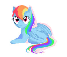 rainbow dash by tearzahs