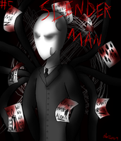 CreepyPasta #5 Slender Man + Speedpaint by CreepypastaGirl1001