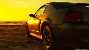 Beach Sunrise Mustang by cbrewer85