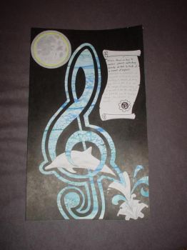 Celtic Treble clef dolphin by thewisesloth