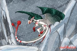 December: Holly Dragon by jeweledphoenix