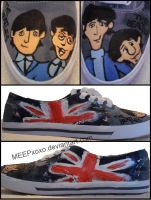 Beatle Custom Shoe Collage by MEEPxoxo