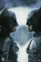 Affleck vs Bale Who would win? by jeransome