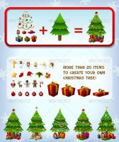 Customizeable Christmas Tree by FreeIconsFinder