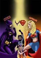 Batgirl vs Supergirl by HowwwwL