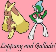 Loppuny and Gallade by Dark-Infernape