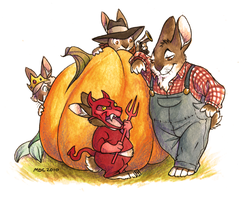 A Hare Halloween by Katmomma