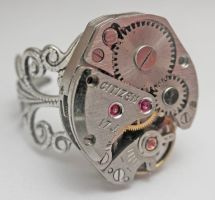 Steampunk Ring by SteamDesigns