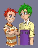 Phineas and Ferb_sketch by KoTana-Poltergeist