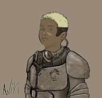 Painting - Child Soldier by Ng-Aniki