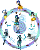 Hexa Fusion Meme: Ice Type by kittyshadow