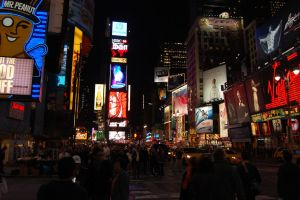 Times Square at Night by RGAllanPhotography