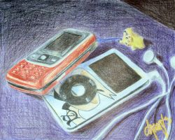 Phone and iPod by LnknPrk7Snoopy