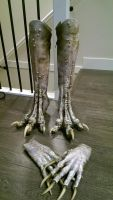 Harpy costume boots and claws by aranamuerta