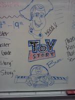 Toy Story on the White Board by Daylighter123