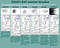 ElleG's SAI custom brushes by ellegial