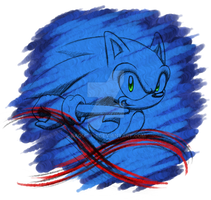 Sonic Sketchin' by daQUIET-1
