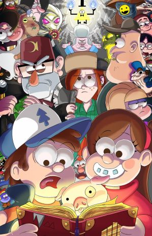 Gravity Falls group by SemajZ