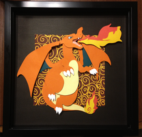 Papercutting : Charizard by Zayger