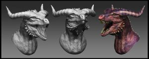 Dragon Head Sculpt 2 by Akiratang