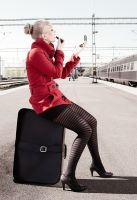 Waiting at the train station by Karl-Filip