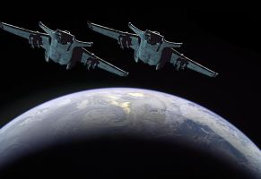 Hammerheads Breaking Orbit by Eurylade