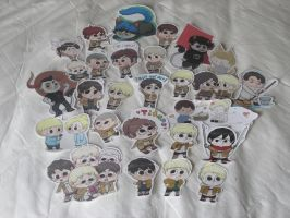 Snk and Homestuck Stickers Giveaway by Foxdraft