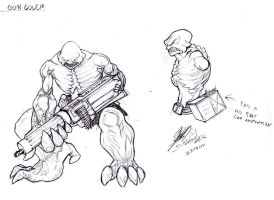 Golem concept number2 Gun by rox52