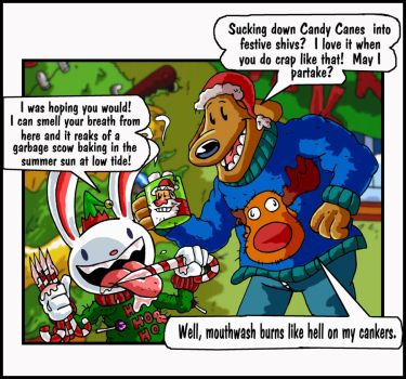 Sam and Max Eat a Bunch of Candy Canes by mightyfilm
