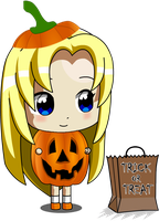 Chibi Ucogi Pumpkin girl by jimmy500