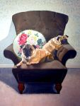 Pugs on a chair by SusanNewman1
