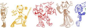 Sonic Style A-gents by Miha-Hime