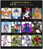 2016 Art Summary! by a-paranoid-android