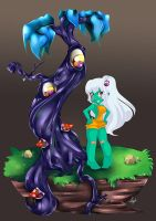 Asha and Magic Tree by lufidelis