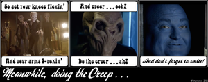 Meanwhile, doing the Creep ... by truemouse