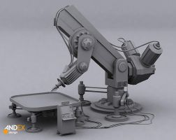 3d factory robot by AndexDesign