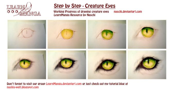 Creature Eye Step by Step by Naschi