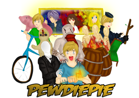 Pewdiepie Mousepad by star-stickies