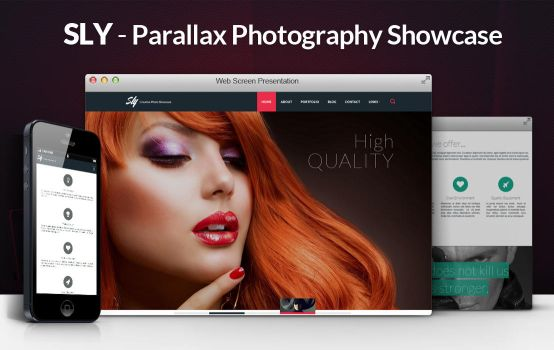 Sly Parallax Photography Showcase HTML Template by gothic-crimson