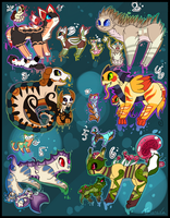 12 FREE creature adoptables  - CLOSED by Amanska