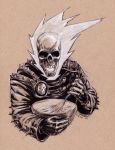 Ghost Rider Making Pancakes by GeorgeLiquor