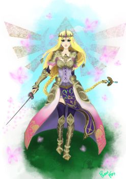 Princess Zelda/Hyrule Warriors by FrauFox